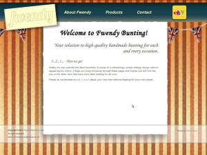 Screenshot von Fwendys Webseite