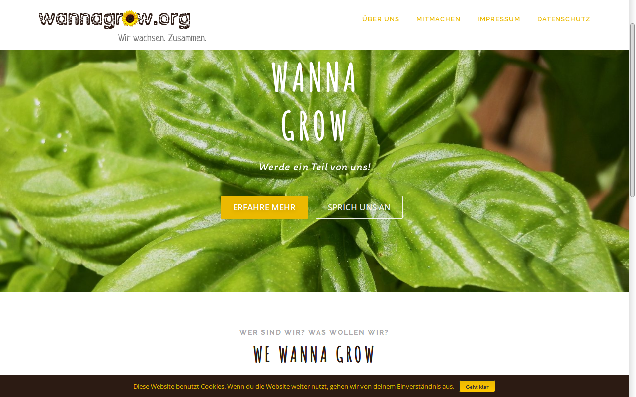 Wanna Grow website